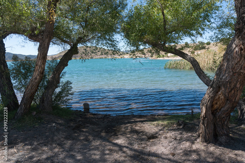 Bill Evans Lake in southern New Mexico near the town of Silver City Canvas Print