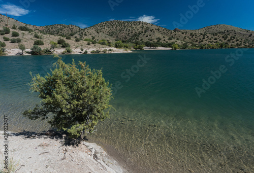 Bill Evans Lake view in New Mexico near Silver City. Wallpaper Mural
