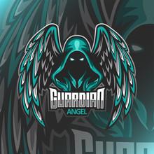 Guardian Angel Logo Mascot Ill...