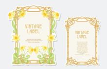 Narcissus. Set Of 2 Labels, De...