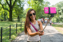 New York City Tourist Taking S...