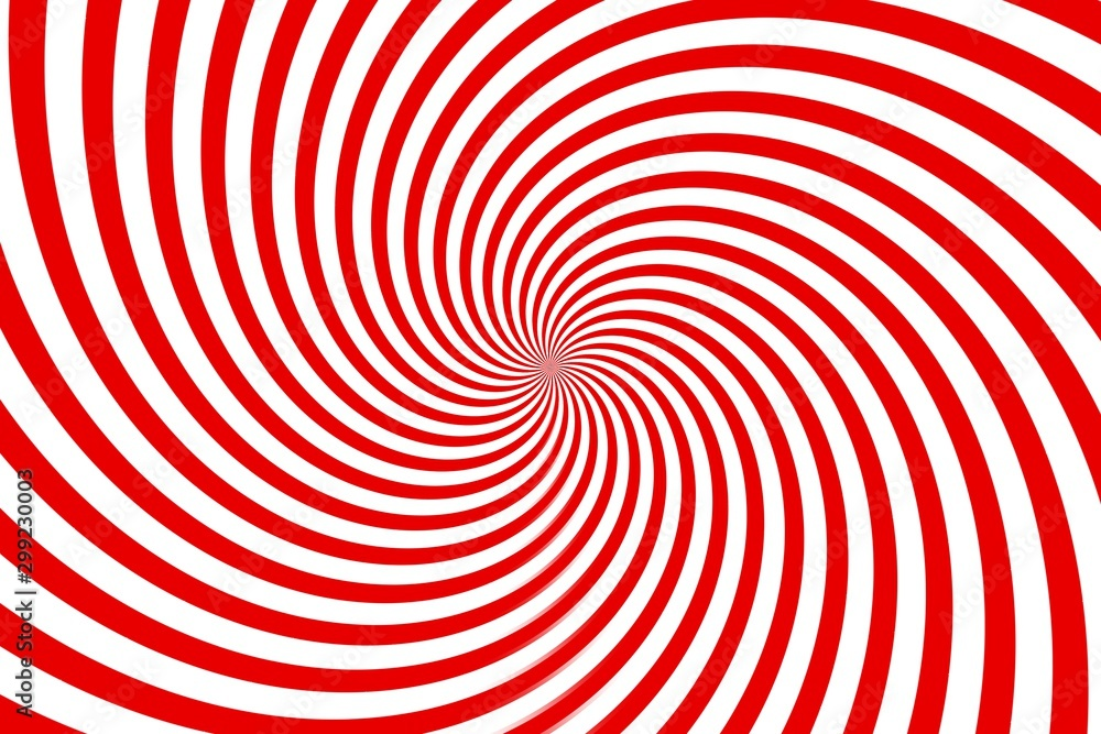 Fototapeta red and white spiral background