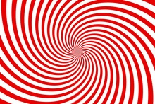 Red And White Spiral Background