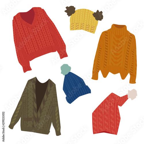 ニット帽とセーター03 Tableau sur Toile