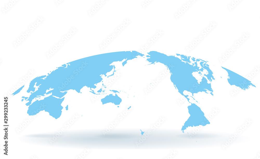 Fototapeta 世界地図 高画質ベクター