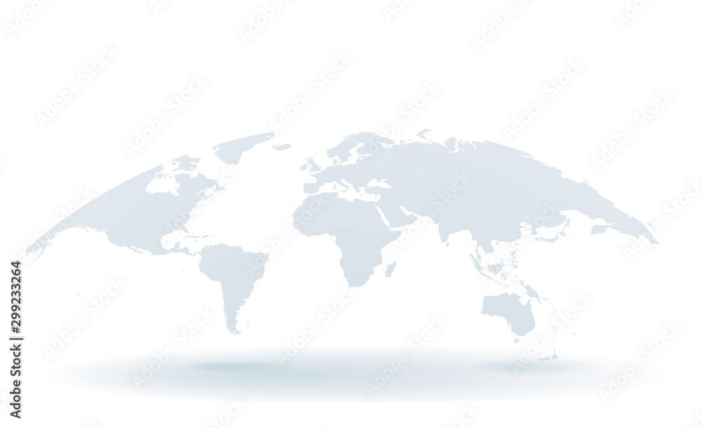 Fototapety, obrazy: 世界地図 高画質ベクター
