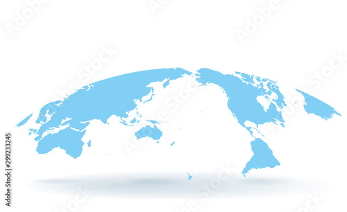 Fototapeta 世界地図 高画質ベクター obraz