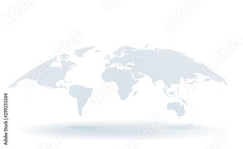 世界地図 高画質ベクター Fototapet