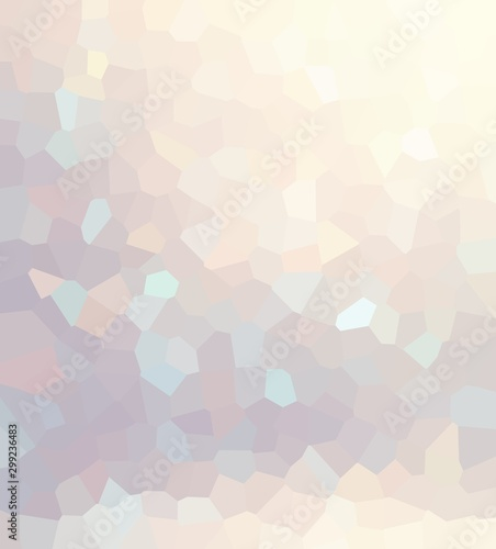 Precious glow mosaic abstract illustration. Luxury pale beige blue geometric pattern. Glare polygon empty background. Shimmering decorative glass texture.