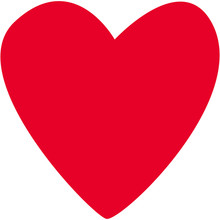 Single Red Heart Of Irregular ...