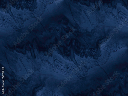 Cadres-photo bureau Artificiel Navy blue marble texture - seamless background