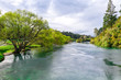Aerial view of Waikato river New Zeland