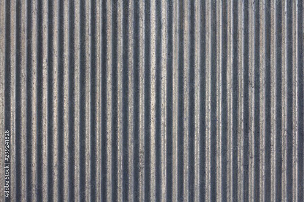 Fototapety, obrazy: Zinc background. close up to pattern texture vertical zinc sheet. Zinc vintage background view.