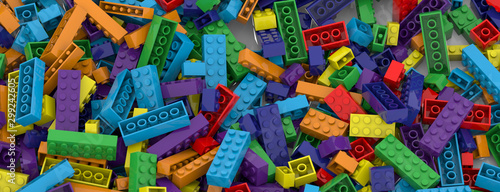 Fotomural  Colored toy bricks background