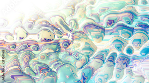Bright background with a volumetric pattern and print. 3d illustration, 3d rendering. #299244016