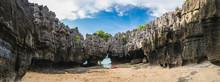 Wide Panorama Amazed Nature Scenic Landscape Prasat Hin Pun Yod, Pheta Island National Park, Attraction Adventure Outdoor Tourist Travel Satun Thailand Beach, Tourism Beautiful Destination Place Asia