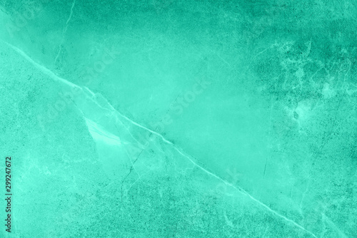 Mint marble texture. Natural patterned stone for background, copy space and design. Trendy green and turquoise color. Abstract marble stone surface.