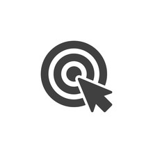 Target And Cursor Vector Icon....