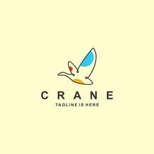 Crane Logo With Flat Design