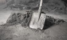 Shovel With A Cement. Renovati...
