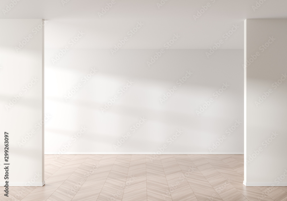 Fototapety, obrazy: Empty wall mock up in modern style interior. Empty interior. 3D illustration.