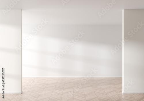 Fotografía  Empty wall mock up in modern style interior