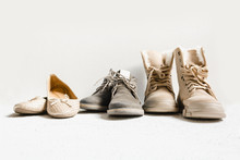 Set Of Shoes, Shoes, Autumn Boots And Winter Boots For Various Seasons Of The Year. Shoes, Weather,