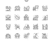 Force Majeure Well-crafted Pixel Perfect Vector Thin Line Icons 30 2x Grid For Web Graphics And Apps. Simple Minimal Pictogram