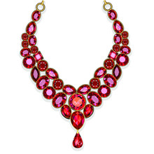 Illustration Red Jewelry Gold ...