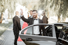 Actor Arriving On The Awards Ceremony