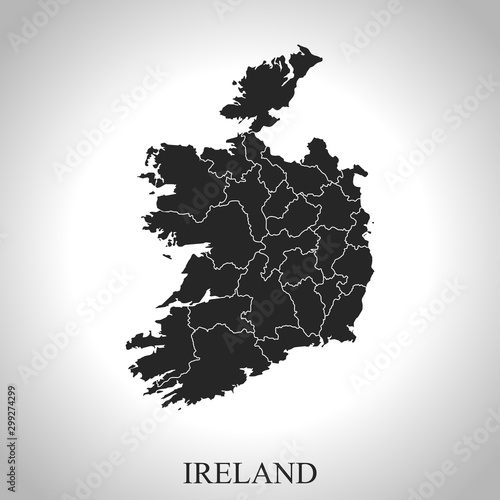 Photo  map of Ireland