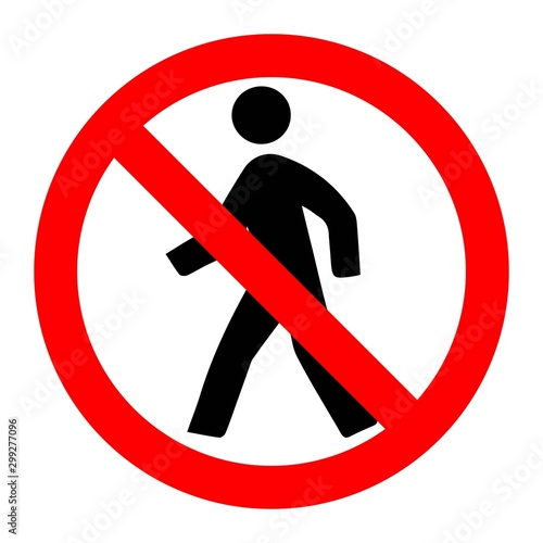 Photo Restricted Area Signs Vector ESP10