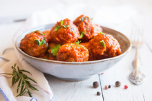 Homemade Meatballs With Tomato...