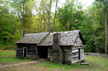 Old Abandoned Log Cabin In The...