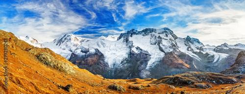 Alpine mountain ridge on border of Switzerland and Italy Wallpaper Mural