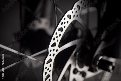 Fotografia closeup the moutain bike parts