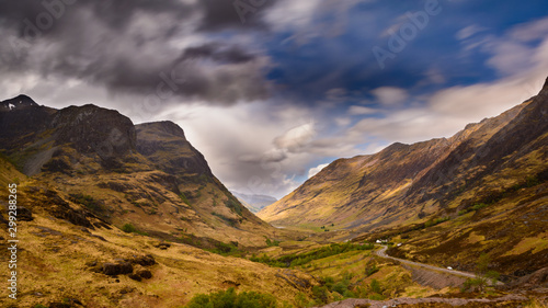Panorama from the Three Sisters in Glencoe, Highlands in Scotland Canvas Print