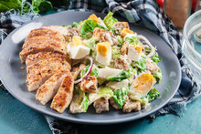 Healthy Caesar Salad With Chic...