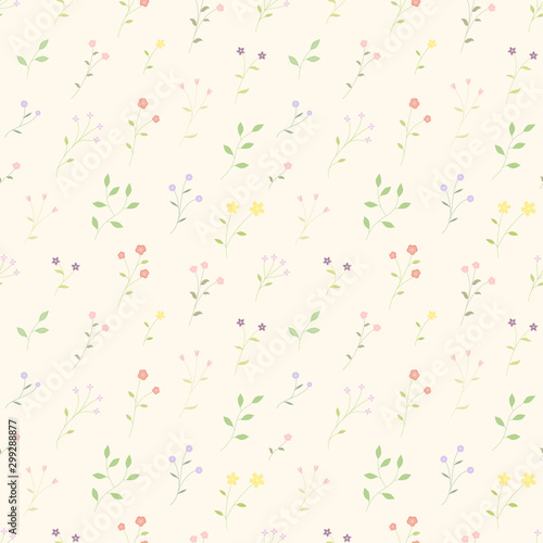 small-bloom-flowers-colorful-seamleass-pattern-vector-background