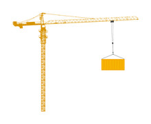 Scale Tower Crane Vector Isola...
