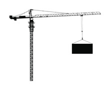 Scale Tower Crane Vector Silho...