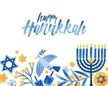 Happy Hanukkah Greeting Card V...
