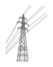 High Voltage Power Line Electr...
