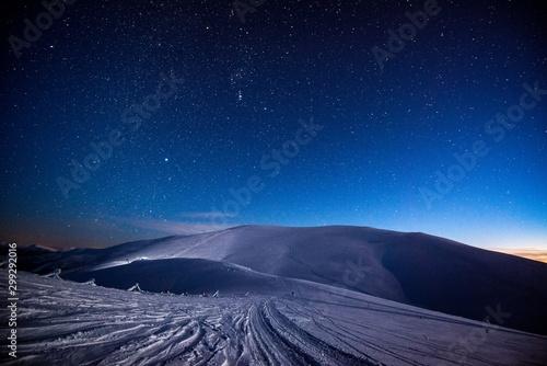Valokuvatapetti Stunning views of the snowy mountain