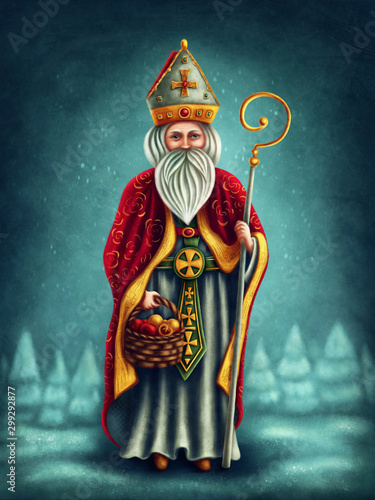 Saint Nicholas Wallpaper Mural