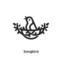 Songbird Icon Vector