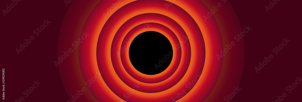 Fototapeta Vintage cartoon red panoramic background
