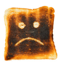Unhappy Smiley Burnt Slice Of ...