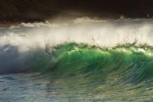 Big Wave Splash On The Shore