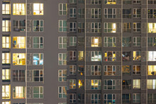 Condo Windows At Night Backgro...